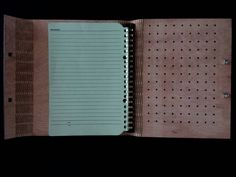 Agenda book Made by wood with laser cutting (2)