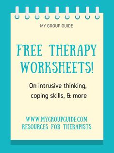 Free therapy resources: mental health worksheets on irrational thinking, anxiety, coping skills, & more. Counseling Worksheets, Therapy Worksheets, Counseling Activities, Ot Therapy, Therapy Quotes, Free Therapy, Social Work Interventions, Group Therapy Activities, Counseling Psychology