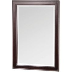 Home Decorators Collection Gazette 23-1/2 in. W x 32 in. H Wall Mirror in Espresso-GAEM2432 - The Home Depot