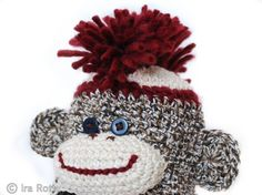 Handmade crocheted sock monkey hat @Meredith McGrew (Is this what you're looking for?)