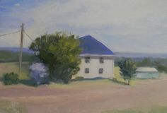 """8"""" x 10"""" Original oil painting  """"House in the Country"""""""