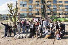 Samen met alle toekomstig bewoners feest vieren bij start bouw Bolderburen op 2 september.