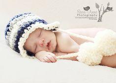 Crochet Eaflap Baby Beanie