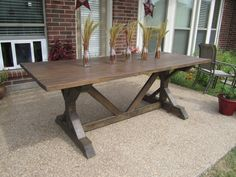 Outdoor brown table set  by KeatsDesign on Etsy $130