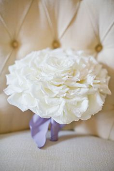 White and Gold Wedding Glamelia, Composite Petal Bouquet.  gorgeous glamelia bouquet | Harwell White and Gold Wedding. Glamelia Bride Bouquet.  Photography #wedding