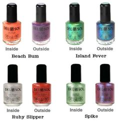 Color-Changing Nail Polish, they change color in the sunlight, ah i want them all!
