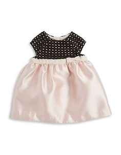 Kate Spade Baby Girls Lace and Satin Dress and Bloomers Set  Black 24