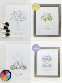 A bunch of great ideas for Wedding Guest Book