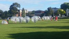 Bubble soccer inflatable games
