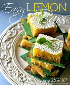 Super Easy Lemon Bars made with Refrigerator Cookie Dough