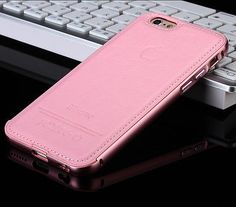 PU Leather Metal Frame Slip Back Case Cover for iPhone 6/6plus iPhone 6S/6S Plus | eBay
