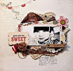 UmeNorskans scrapbookblogg: You are so sweet. Christin Gronnslett using Carta Bella paper