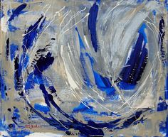 Blue Contemporary Artwork | ... Art, a sometimes, daily painting journal: Abstract contemporary art
