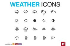 Weather Set by NAS ZTUDIO on @creativemarket