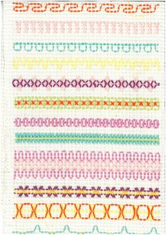 Vohvelikirjonta 5 Swedish Embroidery, Embroidery Sampler, Cross Stitch Embroidery, Cross Stitches, Swedish Weaving Patterns, Loom Patterns, Monks Cloth, Diy And Crafts, Crafts For Kids