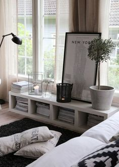 Small shelf and big frame