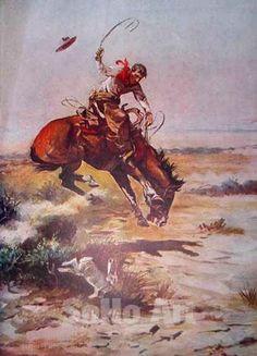 Image detail for -Bronco - Frederic Remington reproduction oil painting Cowboy Horse, Cowboy Art, Native American Art, American Artists, Frederic Remington, West Art, Historical Art, Le Far West, Equine Art