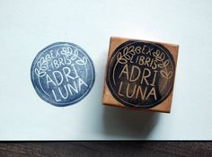 Custom Ex Libris Stamp  1.5 inch Round by KelseyPike on Etsy, $15.00