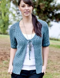 FREE PATTERN by Fiona Ellis, Venezia Worsted, Lace and Rib Top, from Cascade Yarns