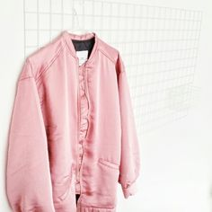 pink bomber jacket / mango / bomber jacket / pink / closet Pink Bomber Jacket, Pink Jacket, Sweater Jacket, Bomber Jackets, Layering Outfits, Boy Fashion, Passion For Fashion, What To Wear, Women Wear