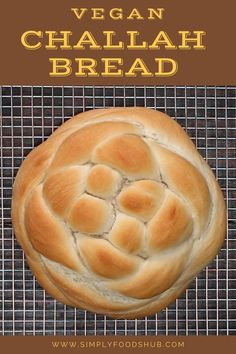 Awesome Vegan Challah Bread - Simply foods hub Bread Recipes, Vegan Recipes, Vegan Meals, Sourdough Rolls, Food Hub, Vegan Society, Tasty, Vegan, Vegane Rezepte