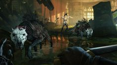 Arkane Studios' 2012 Game of the Year, Dishonored, and all of its additional content - Dunwall City Trials, The Knife of Dunwall, The Brigmore Witches and Void Walker's Arsenal – comes to Xbox One in Dishonored Definitive Edition! Arkane Studios, Witch Wallpaper, Bethesda Softworks, Dishonored 2, Witch Coven, The Empress, Explain Why, Xbox One, Concept Art