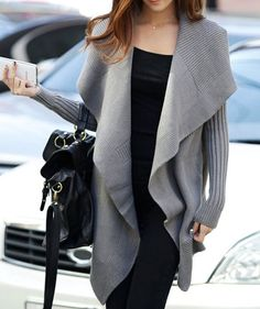 Gray Cotton sweater women sweater loose sweater by happyfamilyjudy, $79.99