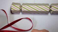 Stampin Up Envelope Punch Board - 6 sided Christmas Bon Bon /cracker tutorial video by Ali
