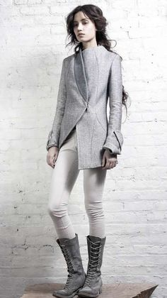 Love the lines in the jacket - amazing what one line of stitches can do: