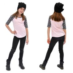 The Camden Raglan is a casual fitted tee for junior girls in sizes 6 - 16. Its versatility will make it a great wardrobe builder in your pattern stash.