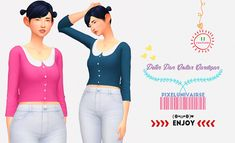 Sims 4 CC's - The Best: Clothing by Pixelunivairse