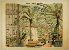 Imagerie d'Épinal, No 1674. Grand Théâtre Nouveau. Jardin d`Hiver - Fond.