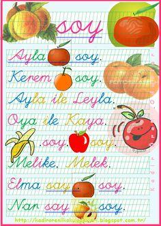 ilkokul ödevleri: 1. sınıf okuma metni elma soy