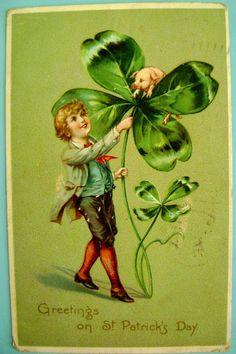 Vintage St, Patricks Day postcard