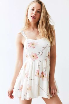Kimchi Blue Petunia Gauze Flutter-Sleeve Romper from Urban Outfitters