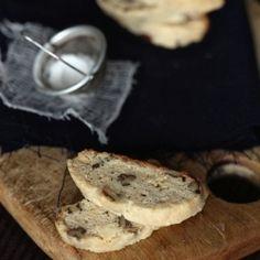 White chocolate pecan biscotti