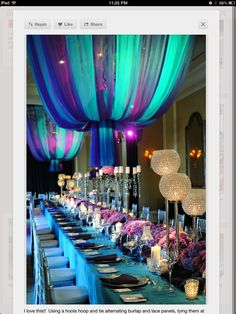 sener table ideas | Table decorations for the girls' graduation party | balloons love the top
