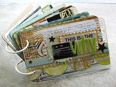 Playing Cards Ring-bound Mini Album or Art Journal #PlayingCards #ArtJournal #MiniAlbum