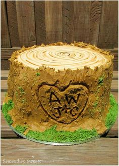 Tree Stump wedding cake by Samantha's Sweets