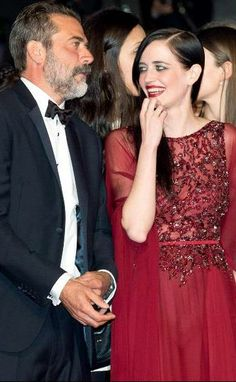 Eva Green with Jeffrey Dean Morgan | 'The Salvation' Screening at the 67th Annual Cannes Film Festival