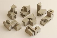 Brutalist sculpture or brutalism would be the way I would describe David Umemoto's work. Love his work with concrete and his amazing geometric sculptures. Sculpture Ornementale, Concrete Sculpture, Concrete Art, Architecture Model Making, Concept Architecture, Architecture Design, Architecture Diagrams, Geometric Sculpture, Abstract Sculpture