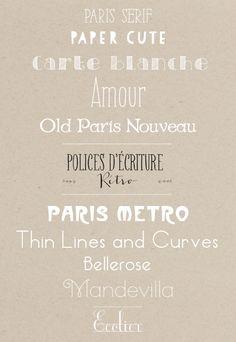 Jolies polices d'écriture {Paris mon amour}