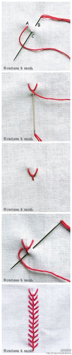 embroidery stitch that ends up looking a little like baseball stitching