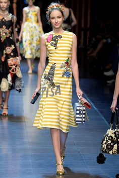 See the Dolce & Gabbana spring/summer 2016 collection. Click through for full gallery at vogue.co.uk