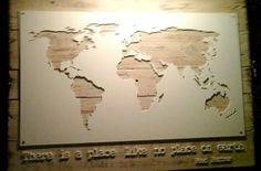 Image result for laser cut wooden world map