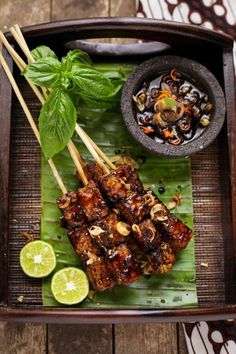 Indonesian Satay Chicken or Goat Chops..