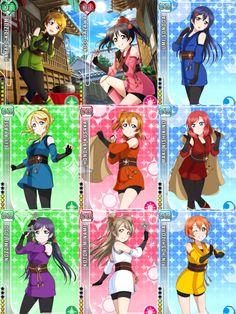 Non-Idolised Ninja/Kunoichi Card Set