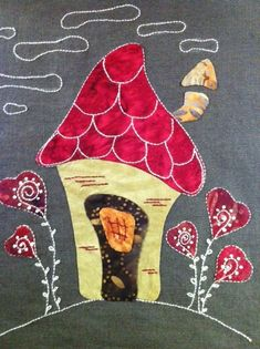 Casita, Eva Gustems House Quilt Block, House Quilts, Barn Quilts, Quilt Blocks, Applique Templates, Applique Patterns, Applique Designs, Embroidery Applique, Patch Aplique