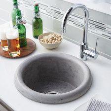 """Pozo 16"""" x 16"""" Stone Bar & Prep Kitchen Sink"""