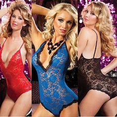 Xlに4xlプラスサイズの女性セクシーなランジェリーgストリングドレス下着ベビードールシアーワンピースパジャマ女性レースランジェリー